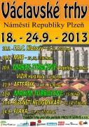 Václavské trhy 18.9. - 24.9. 2013 -program